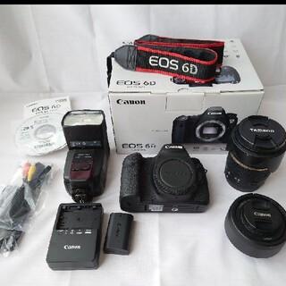 Canon - ♪美品♪Canon EOS 6d レンズ2本、ストロボ付 ショット数9000回