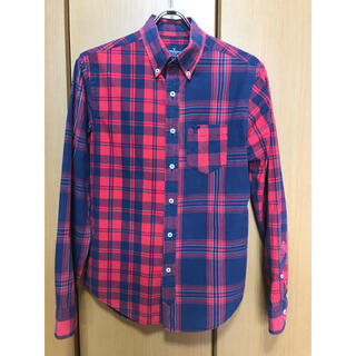 アメリカンイーグル(American Eagle)のアメリカンイーグル Americaneagle アシンメトリー チェックシャツ(シャツ)
