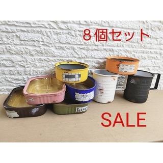 多肉植物 リメイク缶 リメ缶 8個セット セール