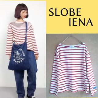 IENA SLOBE - スローブイエナ×トゥルニエジャージー ボーダーカットソー ボートネック