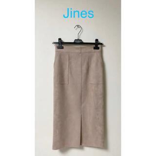 Jines - Jinesジネス  ダブルフェイス フェイクスエードのタイトスカート