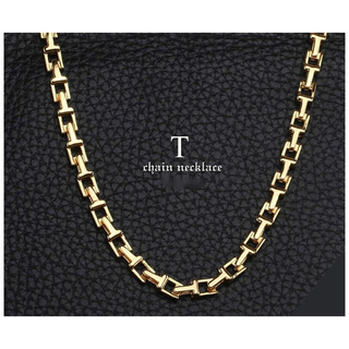 ティファニー(Tiffany & Co.)の18金仕上げ Tチェーンネックレス ゴールド 金 チェーン メンズ ネックレス(ネックレス)