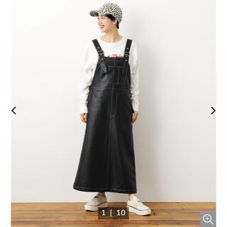 ロデオクラウンズワイドボウル(RODEO CROWNS WIDE BOWL)のRCWB Fレザージャンパースカート 新品未使用(ひざ丈スカート)