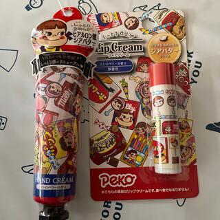 サンリオ(サンリオ)の新品♡ペコちゃんリップクリーム&ハンドクリームセット(ハンドクリーム)