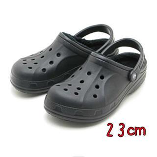 crocs - 新品 23㎝ クロックス ウインター クロッグ ボア付き ブラック