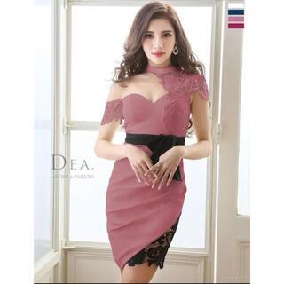 AngelR - DEA キャバ ドレス ミニ くすみピンク シンプル