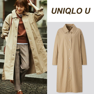 UNIQLO - ユニクロ ライトロングコート オリーブ S