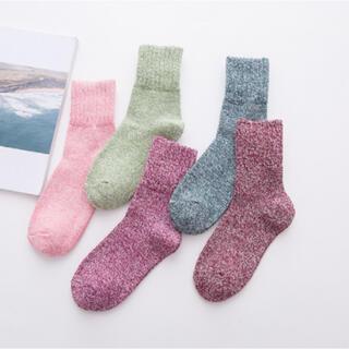 新品 靴下 レディースソックス 厚手ソックス 秋冬用 5足セット