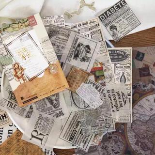 英字ラベルコラージュ素材詰め合わせ 紙もの 海外ステッカー(印刷物)