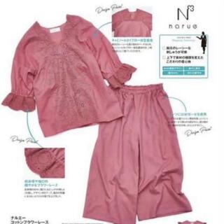 narue - ナルエー ルームウェア  パジャマ 部屋着 フラワーレース ピンク