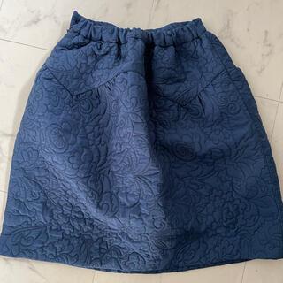 ザラキッズ(ZARA KIDS)のZARA キッズ140cm コクーンスカート ネイビー(スカート)