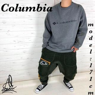 コロンビア(Columbia)の《ゆるだぼ》Columbia コロンビア スウェット XL☆ダークグレー 刺繍(スウェット)