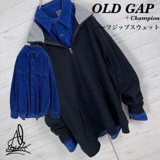 GAP - 《コーデ売り》OLD GAP オールドギャップ XL☆ハーフジップ XXL