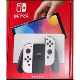 ニンテンドースイッチ(Nintendo Switch)の【新品・未開封】ニンテンドースイッチ 本体 有機ELタイプ ホワイト(家庭用ゲーム機本体)