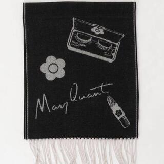 MARY QUANT - 新品 マリークワント コスメ柄 マフラー 黒