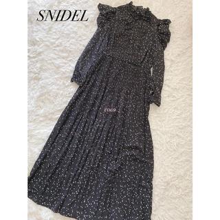snidel - SNIDEL☆新品パフスリプリントワンピース