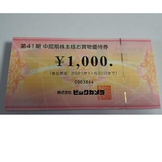 ビッグカメラ 株主優待券 100000円分(ショッピング)