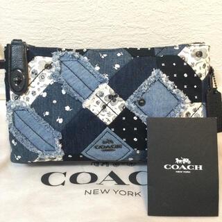 COACH - ほぼ未使用品♡極美品 COACHコーチ ショルダーバッグ デニムパッチワーク