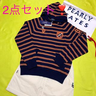 PEARLY GATES - 新品.タグ付❣️パーリーゲイツ ニットパーカー&防寒中綿 スカート  2点セット