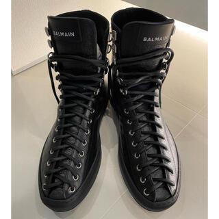 BALMAIN - BALMAIN モノグラムレザーブーツ サイズ43 バルマン