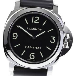 パネライ(PANERAI)の☆美品 パネライ ルミノールベース PAM00112 メンズ 【中古】(腕時計(アナログ))