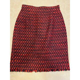 アナイ(ANAYI)のANAYI×Jules TOURNIER ラメツイードスカート(ひざ丈スカート)