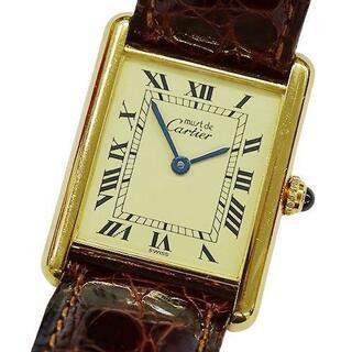 Cartier - カルティエ 時計 590005 マストタンク ヴェルメイユ 925 スクエア