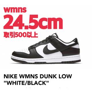 NIKE WMNS DUNK LOW WHITE BLACK 24.5cm