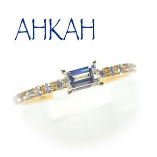 AHKAH - アーカー AHKAH K18YG ソルティアスタビー リング バケットダイヤ