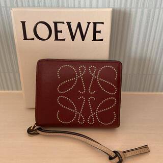 LOEWE - ロエベ LOEWE コンパクトジップウォレット アナグラム レザー 2つ折り財布