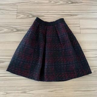 アナイ(ANAYI)のANAYI アナイ スカート ジャガード織 ウール タックスカート(ひざ丈スカート)