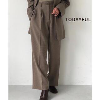 トゥデイフル(TODAYFUL)の【TODAYFUL】Centerpress Trousersセンタープレスパンツ(カジュアルパンツ)