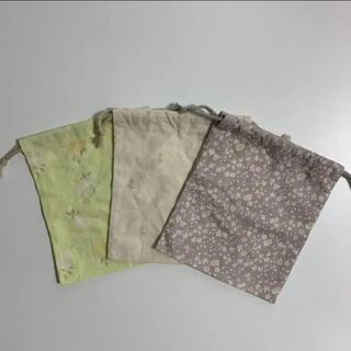 バースデイ フタフタ テータテート 巾着袋 Sサイズ 花柄 3種類