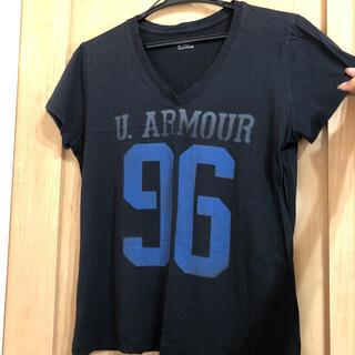 アンダーアーマー(UNDER ARMOUR)のTシャツ UNDER ARMOR アンダーアーマー レディース ブラック 半袖(Tシャツ(半袖/袖なし))