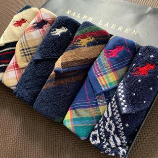 ラルフローレン(Ralph Lauren)のクーポンOK・素敵なデザインたくさん ラルフローレン  ガーゼタオルハンカチ(ハンカチ/ポケットチーフ)