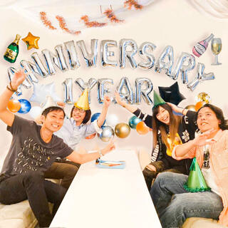 ○周年記念を祝うバルーンセットYEAR♡SHOPや会社のイベントにも♡送料無料(ウェルカムボード)