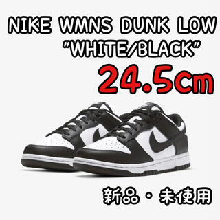 NIKE - NIKE WMNS DUNK LOW WHITE/BLACK 24.5cm