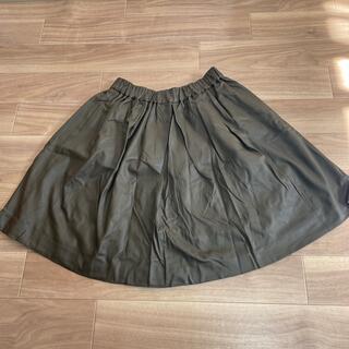 ミラオーウェン(Mila Owen)のレザー風スカート(ひざ丈スカート)