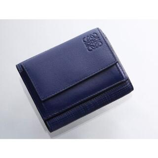 LOEWE - K1569M 美品 ロエベ アナグラム 本革 三つ折 ミニ 財布 SPAIN製