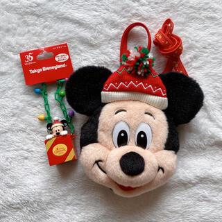ミッキーマウス(ミッキーマウス)のディズニーリゾート35周年 クリスマス ミッキー バッグチャーム パスケース(キャラクターグッズ)