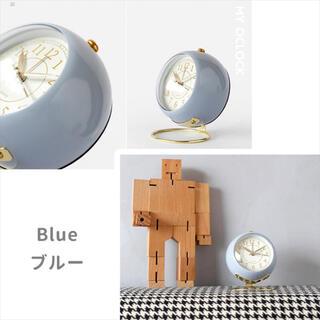 目覚まし時計くすみブルー