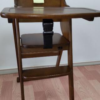 ヤマトヤ(大和屋)のベビーハイチェア・折りたたみ木製テーブル付き(LUCU大和屋製) No2(その他)