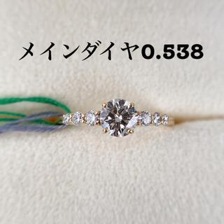 k18 天然ダイヤモンドリング