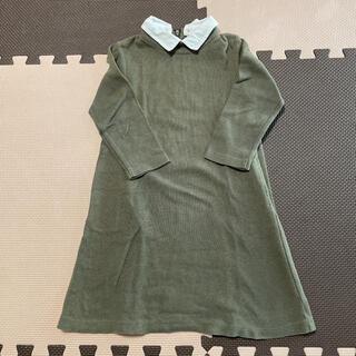 petit main - petit main★付け襟七分袖ワンピース120cm