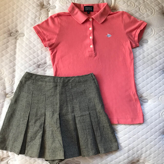 PEARLY GATES - パーリーゲイツ ポロシャツ 0  &  ウールキュロットスカート
