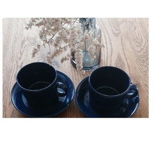 iittala - 廃盤ブルー カップ&ソーサー
