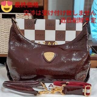 アタオ(ATAO)の《美品》アタオ ミント ボルドー (保存袋付き)(ショルダーバッグ)