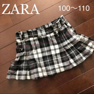 ZARA - ZARA kids ザラキッズ チェック スカート 3-4歳 104cm 100