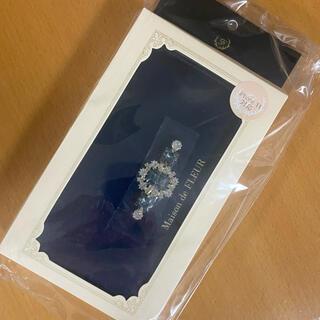 Maison de FLEUR - 新品未使用!メゾンドフルール iPhone11ケース ビジュー ネイビー