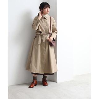 yuni コットン高密度ウェザー ニドムオーバーサイズステンカラーコート